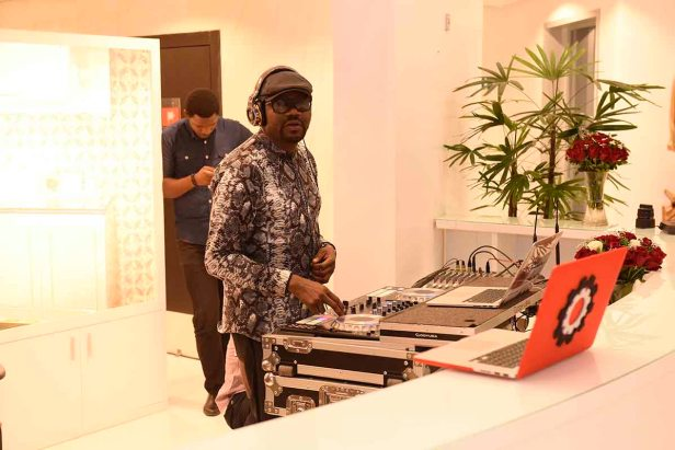 DJ Jimmy Jatt spinning at Grand Opening of Alter Ego Private Atelier in Abuja