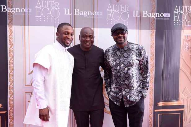 L-R Darey Art-Alade, Michael Owolabi and DJ Jimmy Jatt
